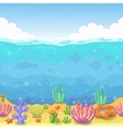 Seamless underwater landscape in cartoon style vector image