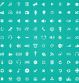 100 audio icons vector image vector image