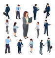 3d isometric business people of set vector image vector image