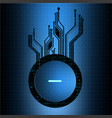 abstract technological circuit button background vector image vector image