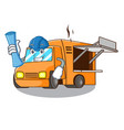 architect food truck with isolated on mascot vector image