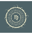 Astrology symbols in circle Maiden sign vector image vector image