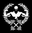 athlete with muscles symbol for the gym vector image