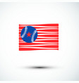 baseball logo america flag sign amp symbol vector image vector image