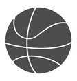 basketball ball solid icon sport equipment vector image