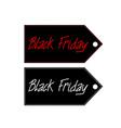 black friday sales tag flat vector image