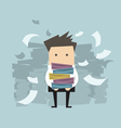 Businessman carrying folders and paper falling vector image vector image