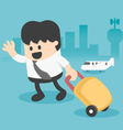 Businessman Character Travel Lifestyle vector image
