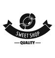 candy shop quality logo simple black style vector image vector image