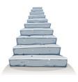 cartoon stone stairs vector image