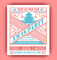 christmas party flyer retro typography and vector image vector image