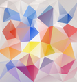 color full abstract polygon triangular pattern vector image vector image
