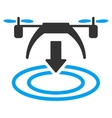 Copter Landing Icon vector image vector image