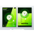 cover set green template for brochure banner vector image vector image