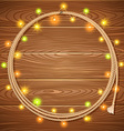 Cowboy lasso decorated christmas light garlands on vector image vector image