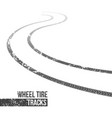 creative of wheel tire tracks vector image vector image