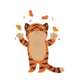 cute tiger isolate on a white background image