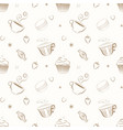 elegant hand drawn seamless patterns with vector image vector image