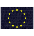 European Union Brexit Text Flag vector image vector image