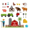 farm animals food and drink production symbols vector image