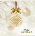 feliz navidad - christmas greetings in spanish vector image vector image