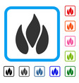 fire framed icon vector image