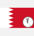 flag and map bahrain vector image vector image