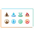 four element icon set vector image