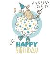 Happy birthday sheep vector image vector image