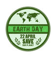 happy earth day background vector image vector image