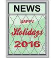Happy holidays newspaper board vector image vector image