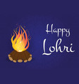 happy lohri background with bonfire holiday on a vector image vector image