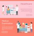 healthcare medical examination vector image