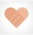 heart shape band aid vector image