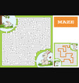 help bunny to find way maze game puzzle vector image
