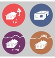 House building icon set Cottage apartment vector image vector image