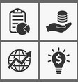 investments money icons vector image vector image