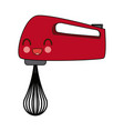kawaii kitchen hand mixer appliance electricity vector image vector image