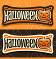 labels for halloween holiday vector image vector image