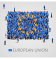 large group of people in the shape of european vector image vector image