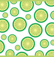 lemon tropical and exotic fruit pattern vector image vector image