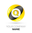 letter o logo symbol in the colorful circle vector image