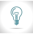 lightbulb blue icon Eps10 vector image vector image