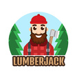 Lumberjack or Woodcutter logo vector image vector image