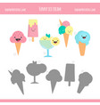 matching game with ice cream vector image vector image