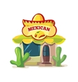 mexican food bar or vector image