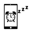 mobile clock alarm sleep app vector image vector image