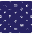 navigation icons pattern eps10 vector image