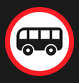 no bus prohibition sign flat icon vector image vector image