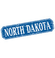 north dakota blue square grunge retro style sign vector image vector image